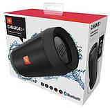 Беспроводная портативная Bluetooth колонка JBL Charge 2+ с защитой от влаги и пыли grey, фото 6