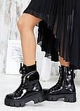 Берци жіночі демісезонні чорні лак-шкіра з гаманцем 7561-28, фото 3