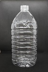 Пэт бутылка 5 л. с узким горлом (38 мм), прозрачная, 35 шт./уп.