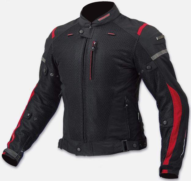 Текстильная мотокуртка Komine JK-069  Черно Красная