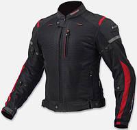 Текстильная мотокуртка Komine JK-069  Черно Красная, фото 1