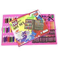 Детский художественный набор для рисования 150 предметов в чемоданчике Art Set Розовый