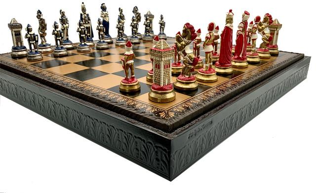 Коллекция фигур Camelot Piccolo. Шахматы подарочные Italfama.