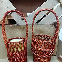Плетёная корзина из лозы для банки (1л)