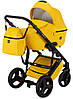 Универсальная детская коляска Bair Leo кожа 100% GN-80 желтый