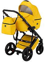 Универсальная детская коляска Bair Leo кожа 100% GN-80 желтый, фото 1