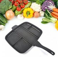 Универсальна сковородка гриль из нержавеющей стали Magic Pan 5 в 1 сковорода на 5 отделений.