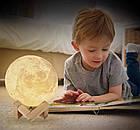 Настольний светильник Magic 3D Moon Light 18 см | 3d светильник луна | Лампа ночник, фото 3