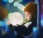 Настольний светильник Magic 3D Moon Light 18 см | 3d светильник луна | Лампа ночник, фото 5