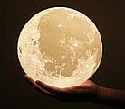 Настольний светильник Magic 3D Moon Light 18 см | 3d светильник луна | Лампа ночник, фото 9