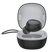 Bluetooth-гарнитура HOCO Wise mini E50 в кейсе, черная