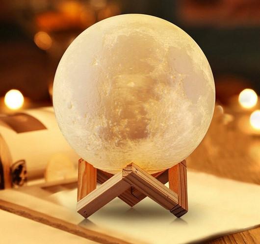 Настольний светильник Magic 3D Moon Light 18 см | 3d светильник луна | Лампа ночник