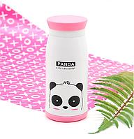 Детский термос-пищевой с ремешком Stenson Panda кролик 350 мл, емкость для сохранения тепла жидкости.