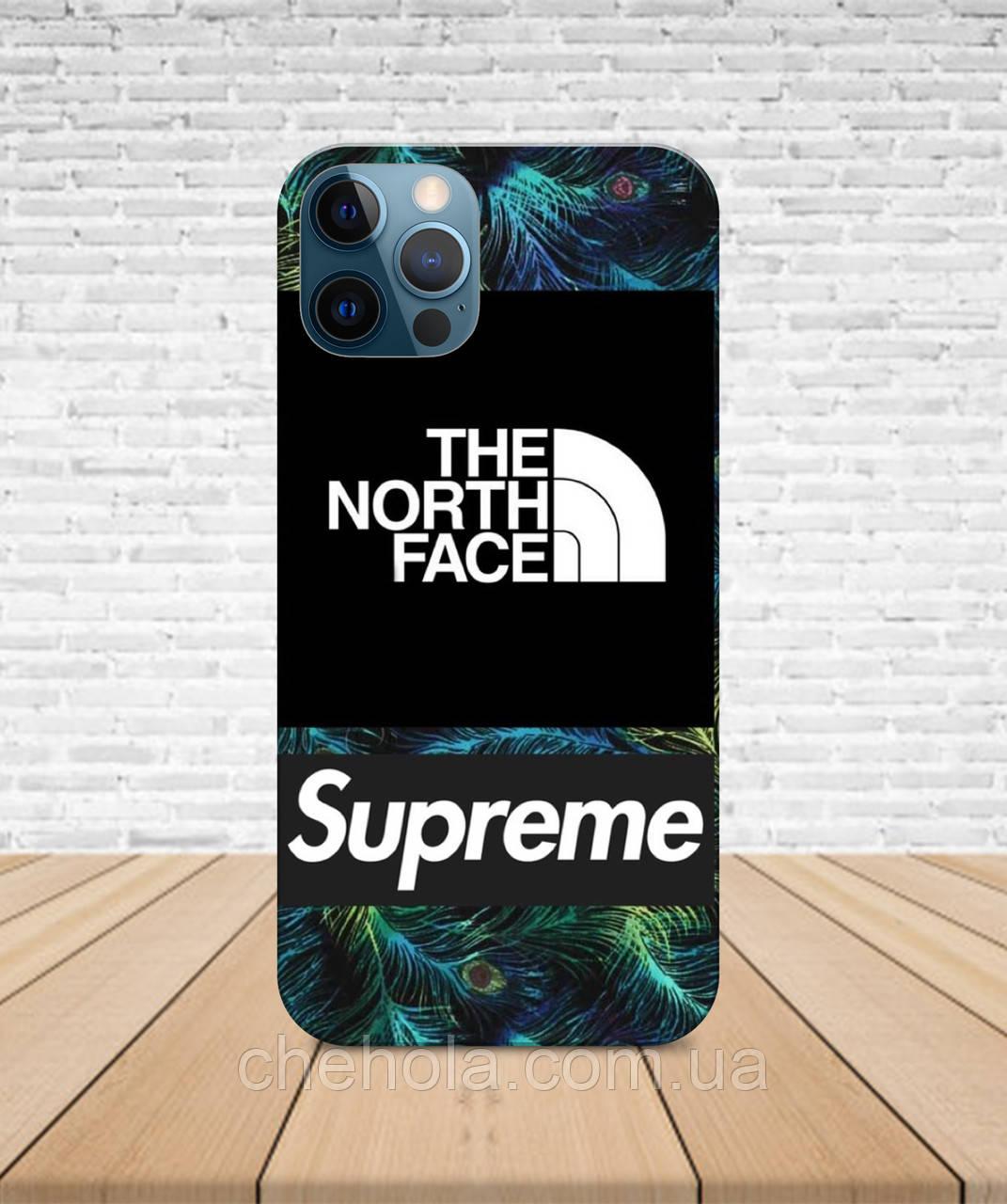 Матовый Чехол iPhone 12 Pro Max Mini В стиле Supreme TNF с принтом