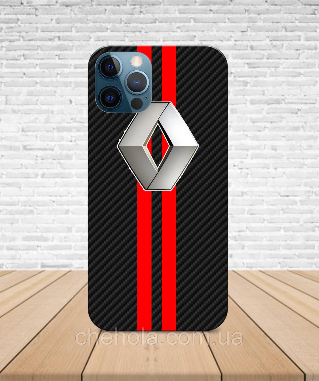 Матовый Чехол iPhone 12 Pro Max Mini карбон Чехол renault с принтом
