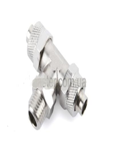 FNTT8/6-G1/4  Фитинг тройник поворотный