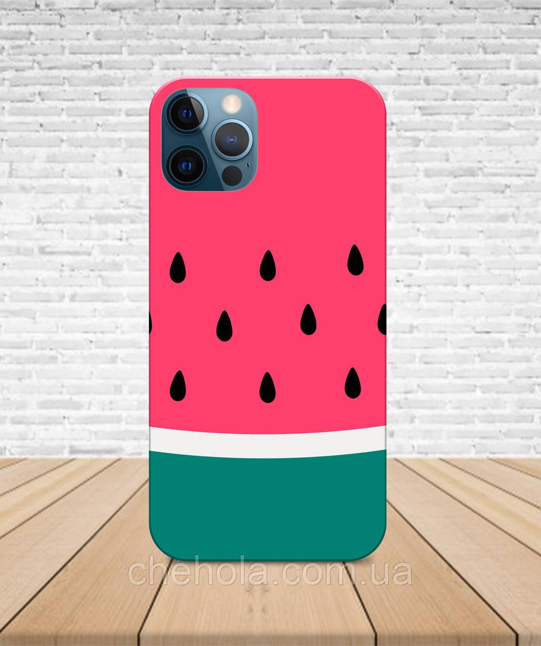 Матовый Чехол iPhone 12 Pro Max Mini Арбузы лето с принтом