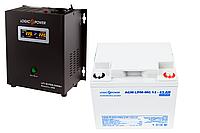 Безперебойное питание для котла 4ч ИБП LPY-W-PSW-500VA(350W)12V и АКБ мультигель AGM LPM-MG 12 - 45AH