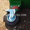 Бак металевий, з кришкой та колесами,750 л чорний, фото 5