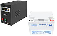 Безперебойное питание для котла 4-5ч ИБП LPY-B-PSW-500VA(350W)12V и АКБ мультигель AGM LPM-MG 12 - 45AH