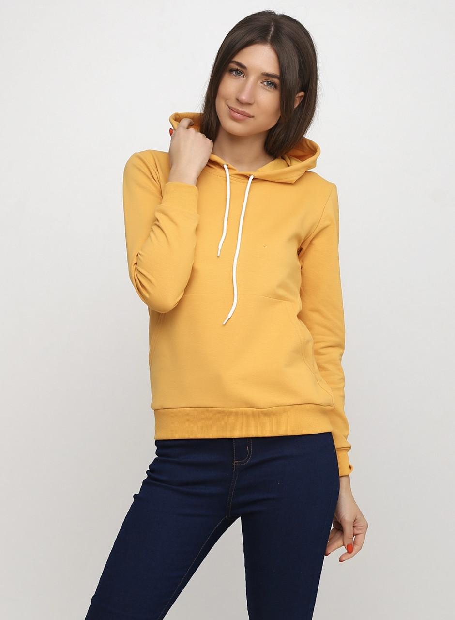 Худі жіночий з капюшоном, колір гірчичний