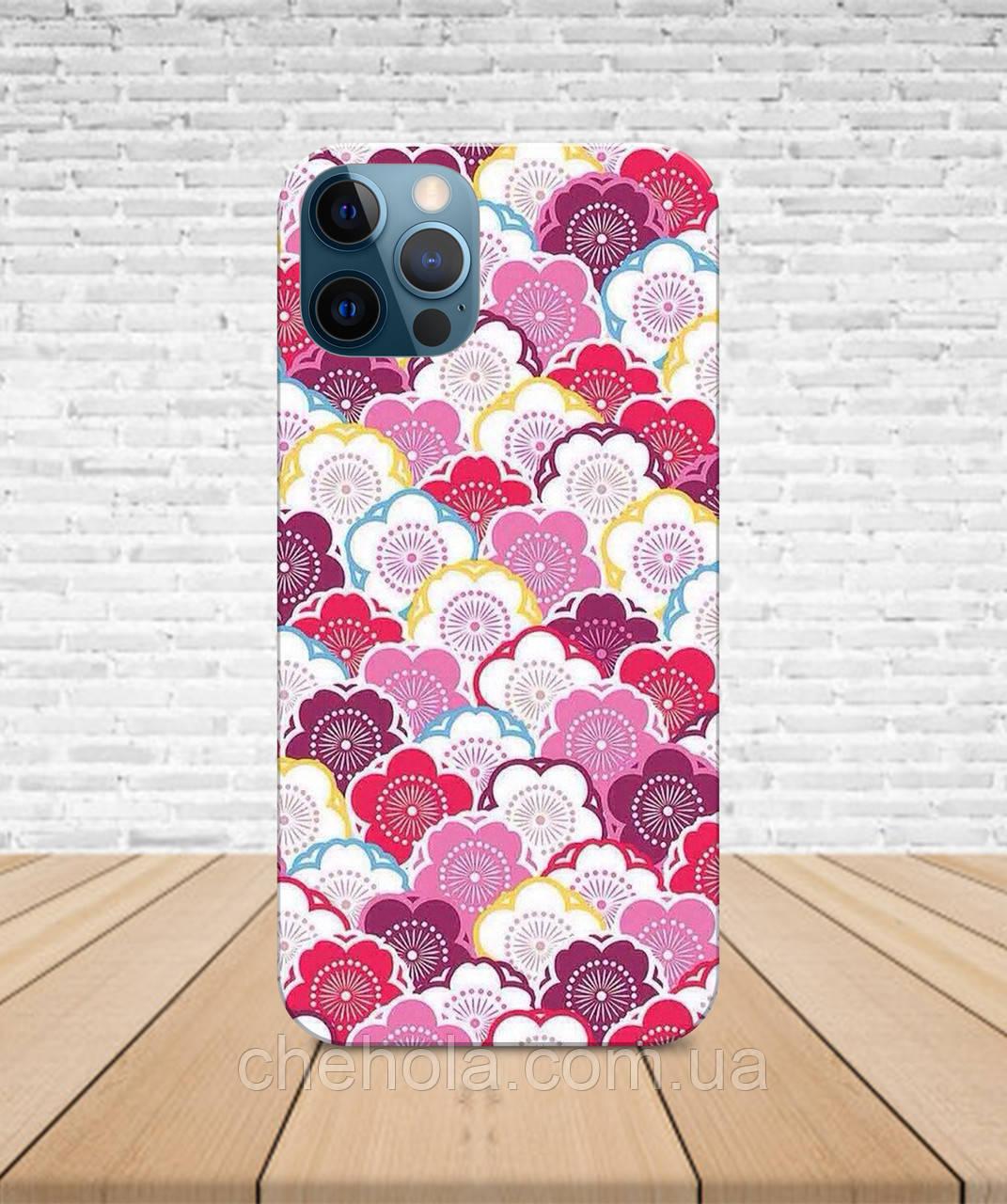 Матовый Чехол iPhone 12 Pro Max Mini Цветы весенний с принтом