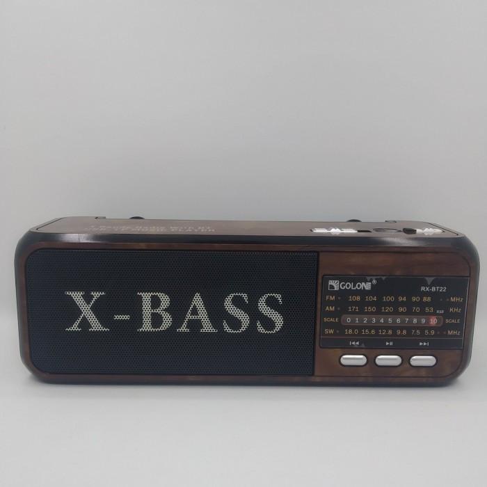 Радіоприймач Golon RX-BT22 Коричневий