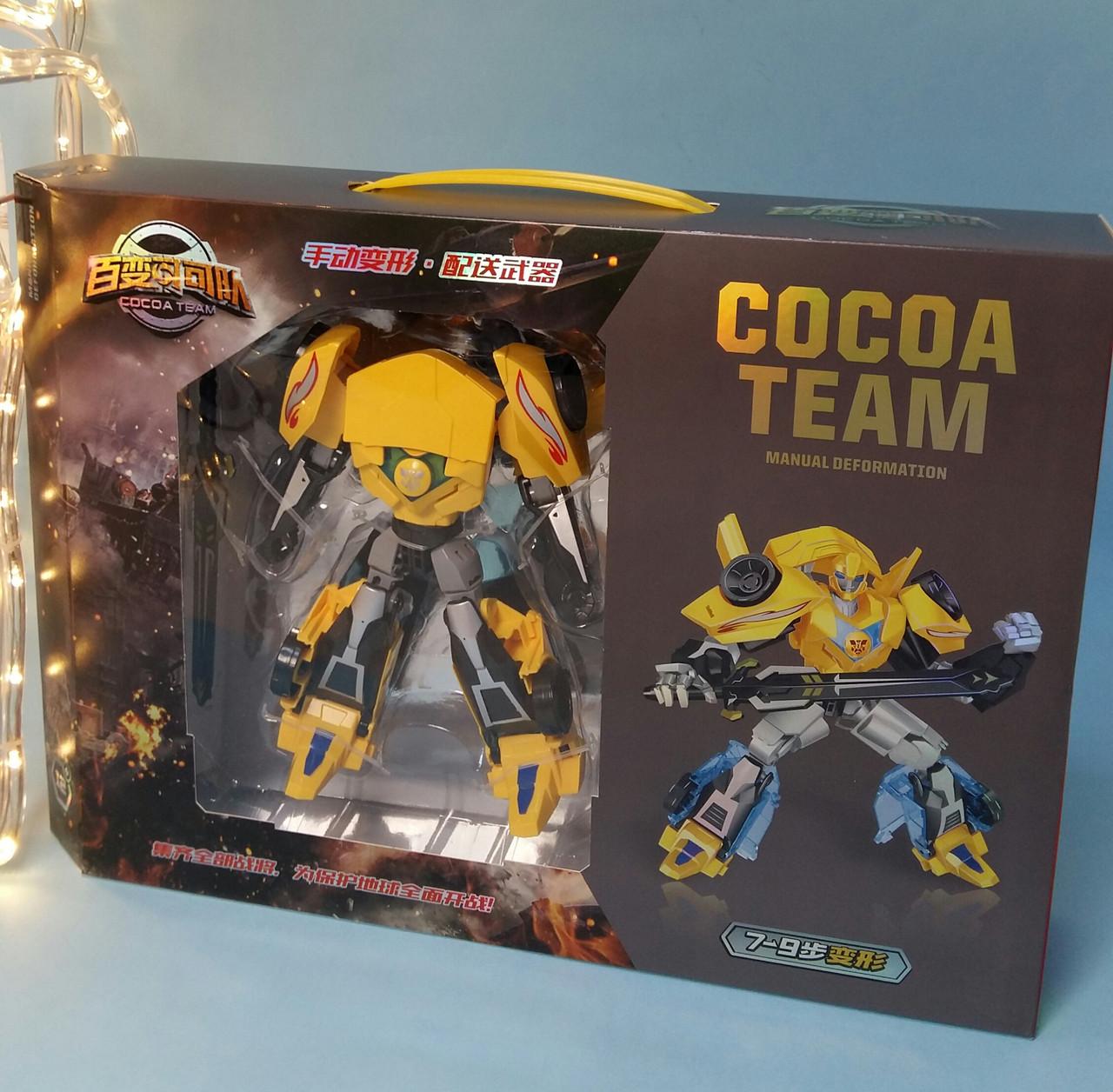 Трансформер робот+машина, 20см, оружие, в коробке, 43-30-9 см YB188-211