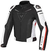 Мото куртка  Dainese SP-R TEX Black White Red, фото 1