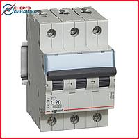 Автоматический выключатель Legrand TX3 20А 3п С 6кА