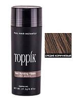 Кератиновый загуститель для волос Toppik (для маскировки залысин) 27,5г Шатен (Medium Brown)
