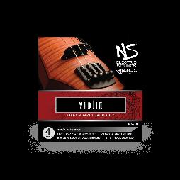 D'ADDARIO NS ELECTRIC VIOLIN STRING SET 4/4 Scale Medium Tension Струны для электроскрипки (NS310)
