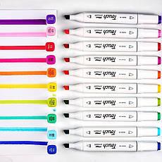 Набор Двухсторонних Скетч маркеров для рисования и дизайна Touch Smooth 200 шт., фото 2