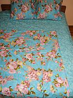 Двуспальное постельное белье Розочки