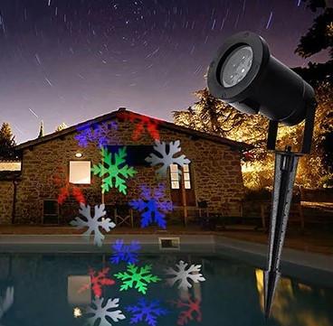 Уличный лазерный проектор с рисунками Festival Projection Lamp 12 pictures star shower   Новогодний проектор