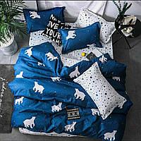 Качественное и красивое постельное белье семейка, северное сияние   Бесплатная доставка!
