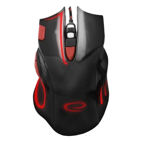 Мишка USB ігрова Esperanza MX401 Hawk Black-Red (EGM401KR)
