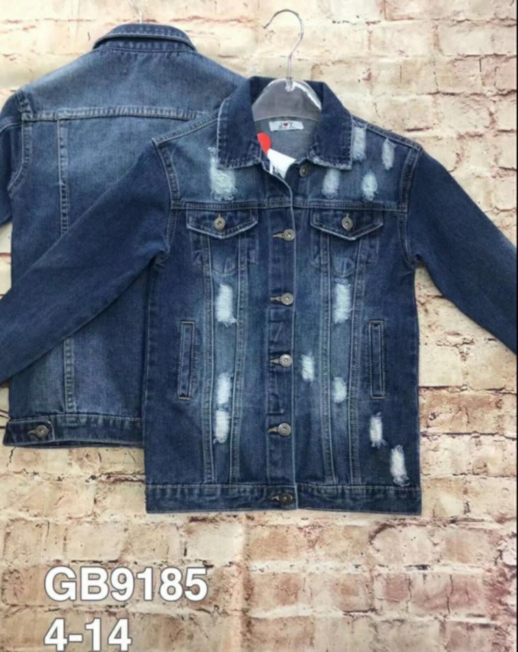Модна джинсова курточка для дівчинки