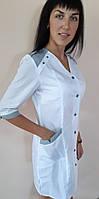 Медицинский женский халат Рондо хлопок три четверти рукав