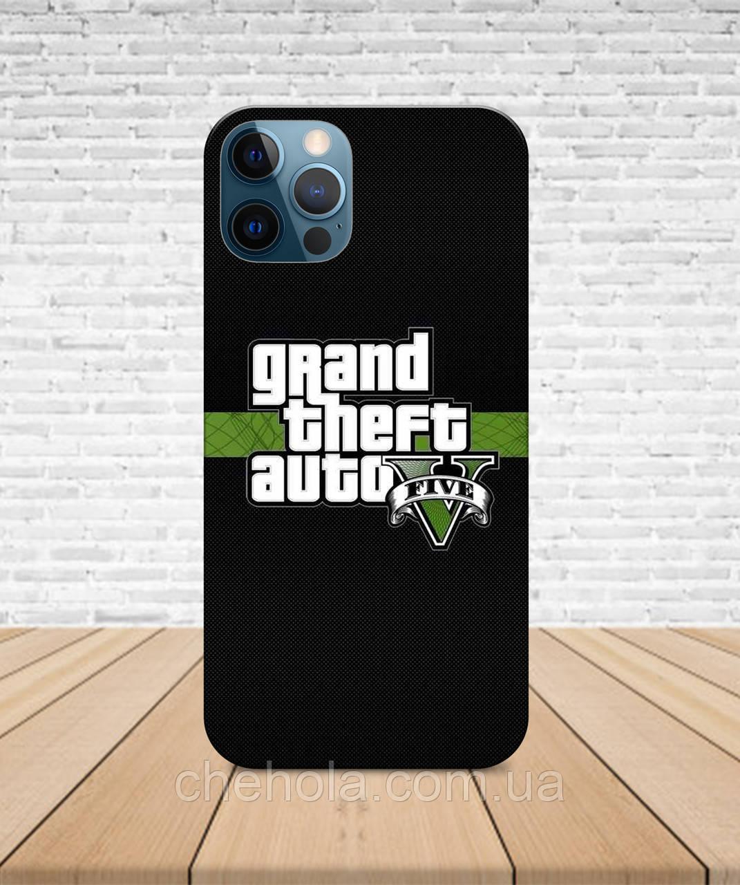 Матовый Чехол iPhone 12 Pro Max Mini GTA 5 с принтом