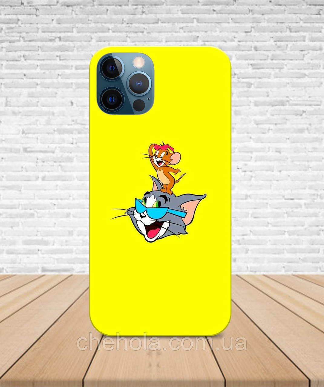 Матовый Чехол iPhone 12 Pro Max Mini Том и Джерри с принтом
