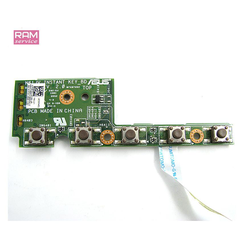Додаткова плата, мультимедійні кнопки, для ноутбука, Asus N61J, 60-NYKIK1000-C02, Б/В, В хорошому стані, без