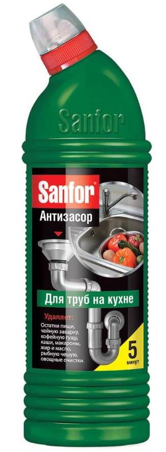 """Средство для очистки труб на кухне """"Sanfor"""" 1000мл"""