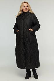 Куртка-трансформер демисезонная с отстегивающимися рукавами черная Большие размеры 48-70