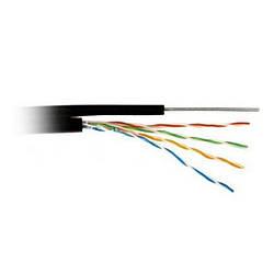 Кабель для зовнішній прокладки UTP 5е ATcom з тросом 1,2 мм (бух.305м) 4*2*0,5 мм мідь