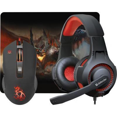 Начальный набо для геймера Defender Devourer MHP-006 kit mouse+mouse pad+headset