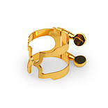 RICO HCL1G H-Ligature & Cap - Bb Clarinet Gold Plated Лигатуры, копачки, лиры, фото 2
