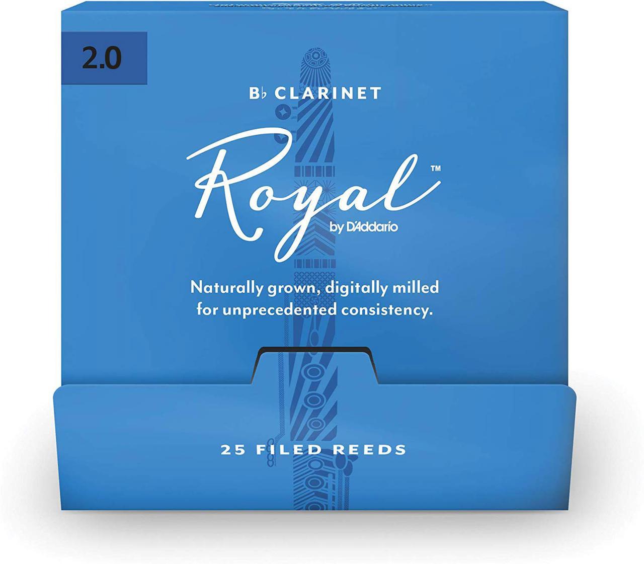 D`ADDARIO Royal - Bb Clarinet #2.0 - 25 box Трости для кларнета (RCB0120-B25)