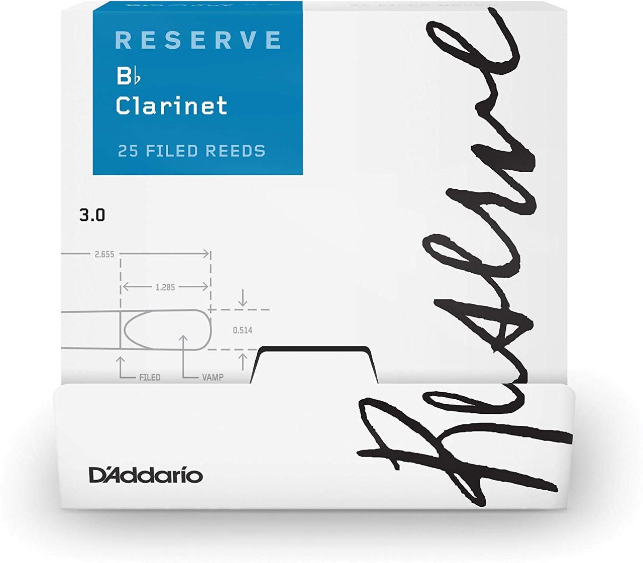 D`ADDARIO Reserve Bb Clarinet #3.0 - 25 Pack Трости для кларнета (DCR0130-B25)