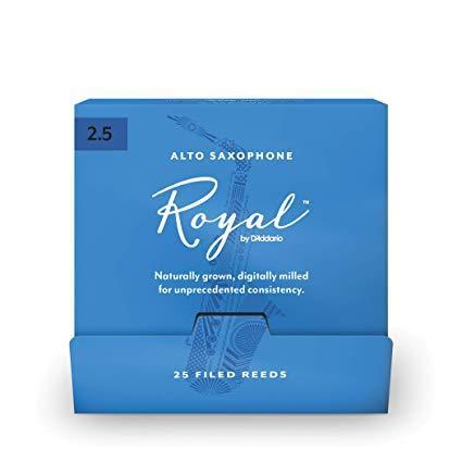 D`ADDARIO Royal - Alto Sax #2.5 - 25 Pack Трости для альт саксофона (RJB0125-B25)